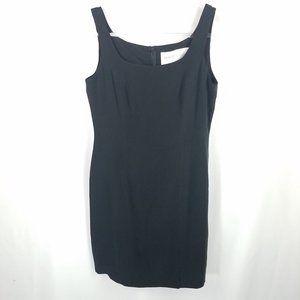 Hugo Buscati Collection dress 100% silk navy NWT 8